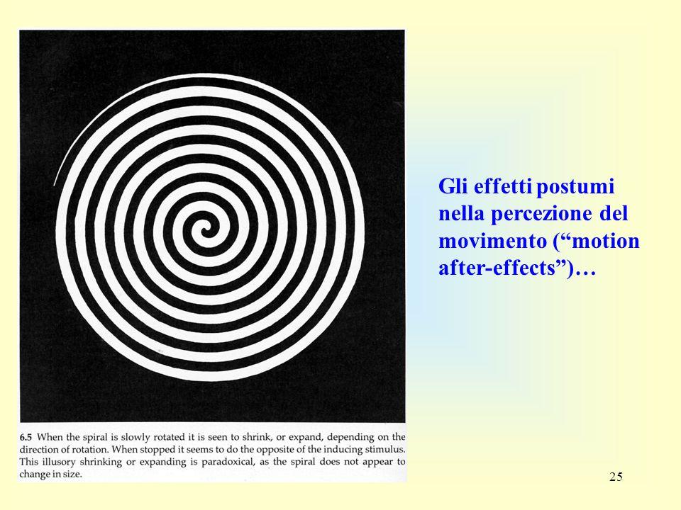 25 Gli effetti postumi nella percezione del movimento (motion after-effects)…
