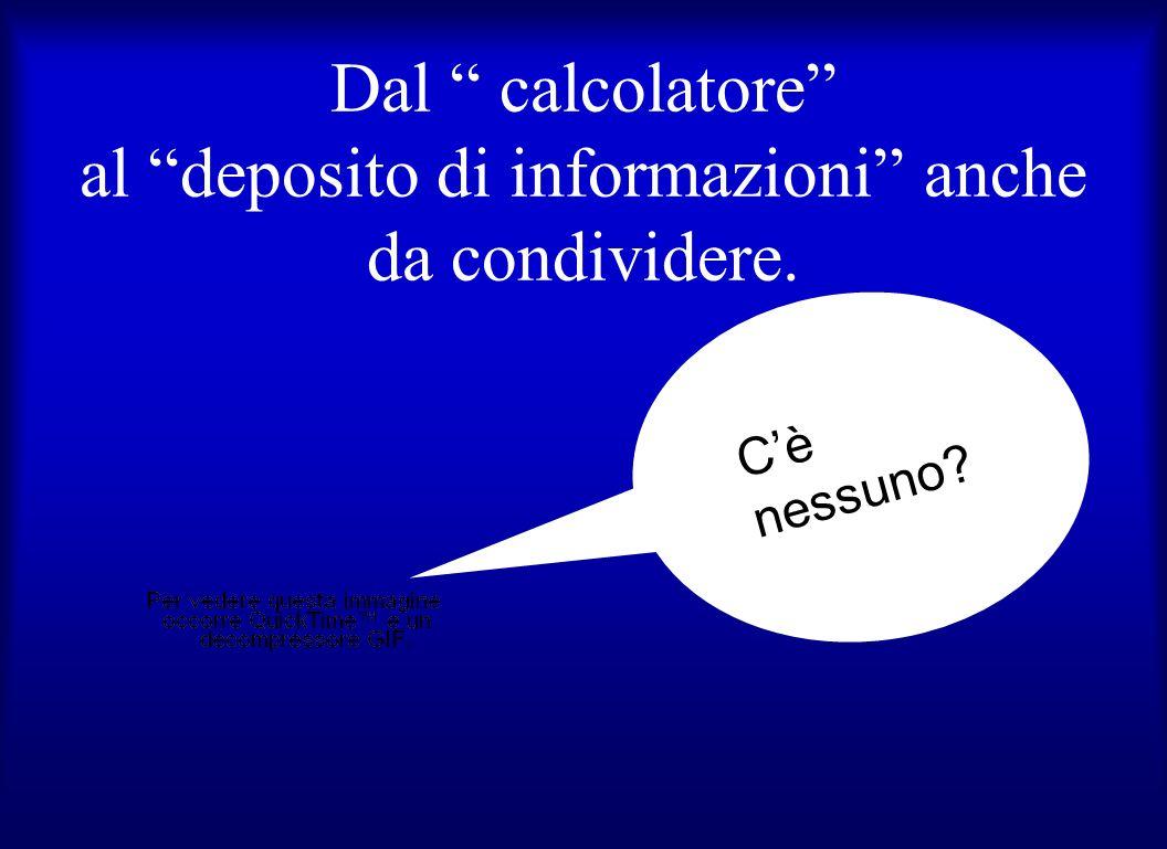 Dal calcolatore al deposito di informazioni anche da condividere. Cè nessuno?