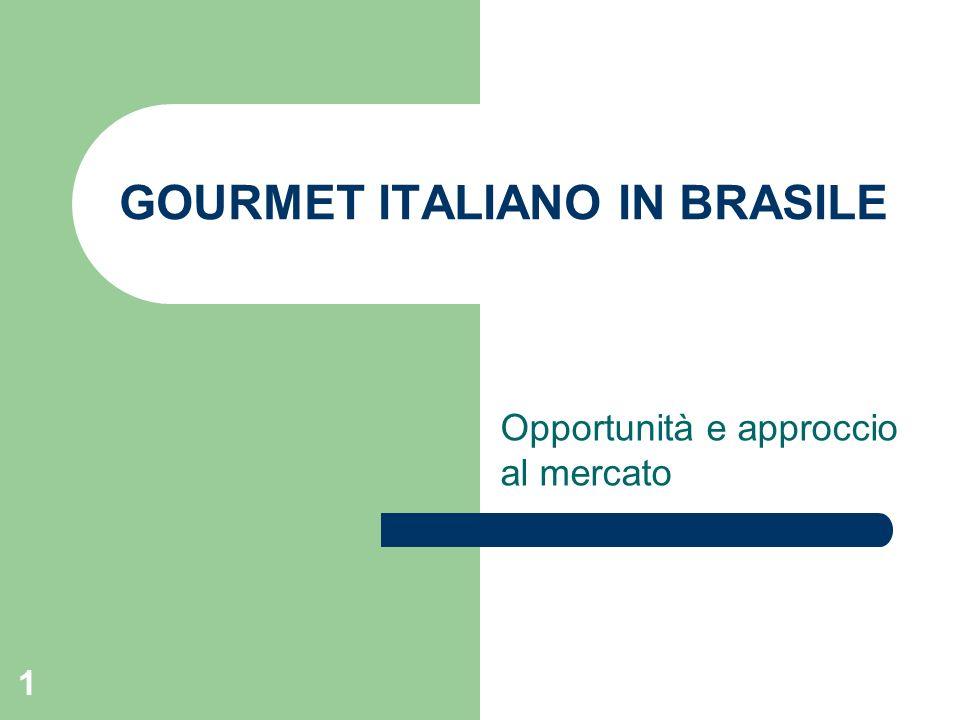 1 GOURMET ITALIANO IN BRASILE Opportunità e approccio al mercato