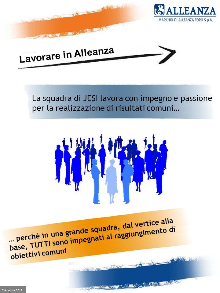 © Alleanza 2012 Crescere è facile, se hai un alleato Lavorare in Alleanza La squadra di JESI lavora con impegno e passione per la realizzazione di ris