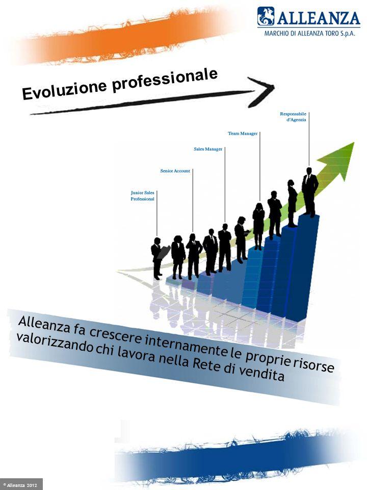 © Alleanza 2012 Crescere è facile, se hai un alleato Alleanza fa crescere internamente le proprie risorse valorizzando chi lavora nella Rete di vendit