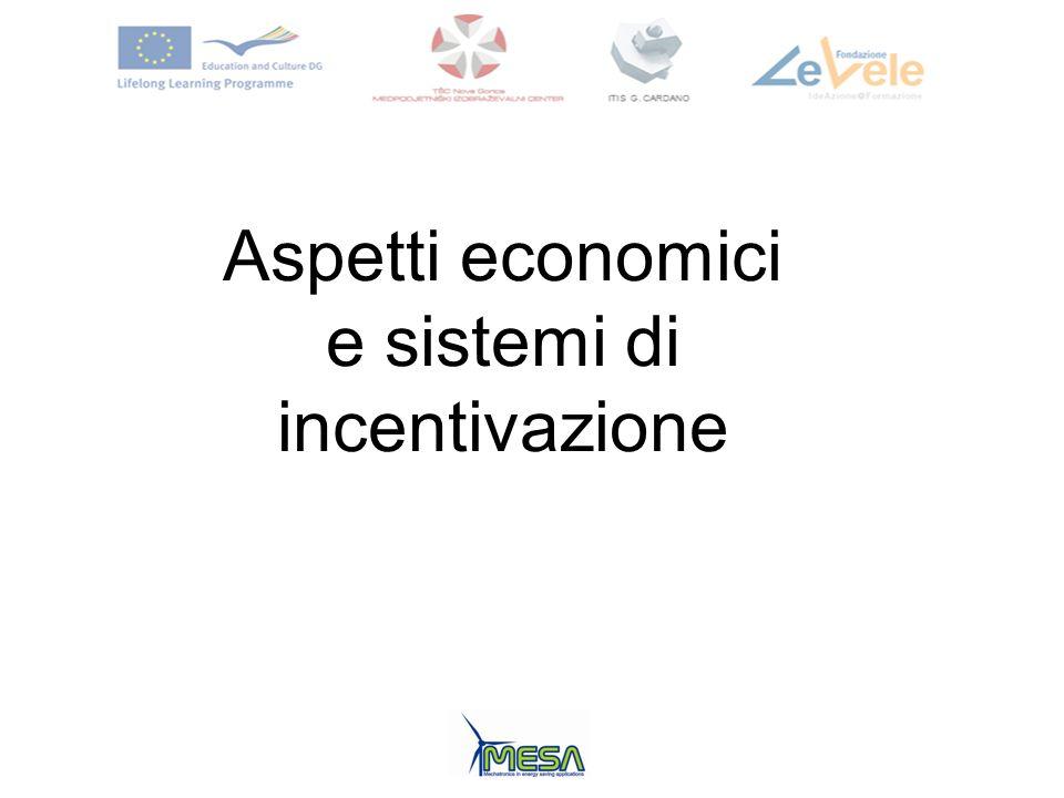 Aspetti economici e sistemi di incentivazione