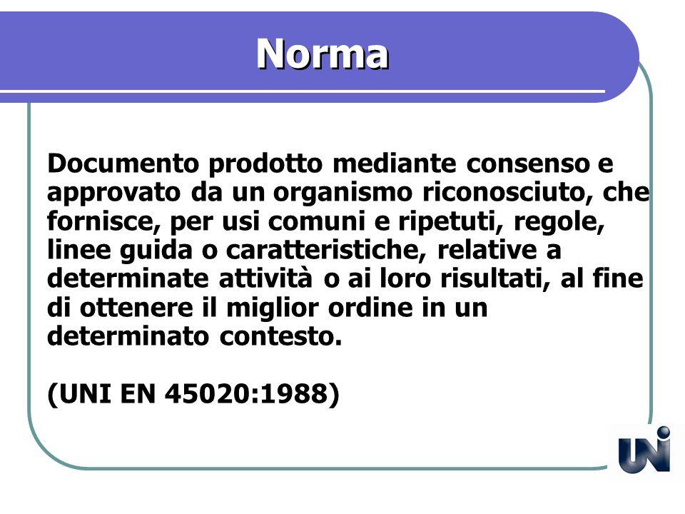 Regola Documento emanato da una autorità che contiene requisiti obbligatori. (UNI EN 45020:1998)