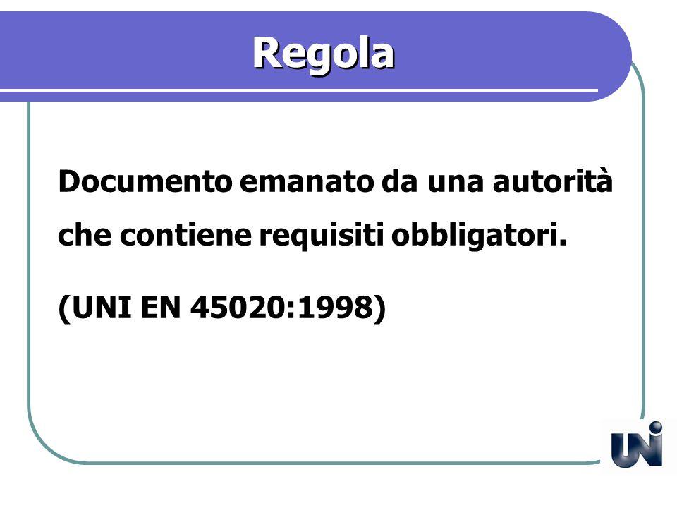 Specifica tecnica Documento che prescrive i requisiti tecnici che prodotto, processo o servizio devono soddisfare.