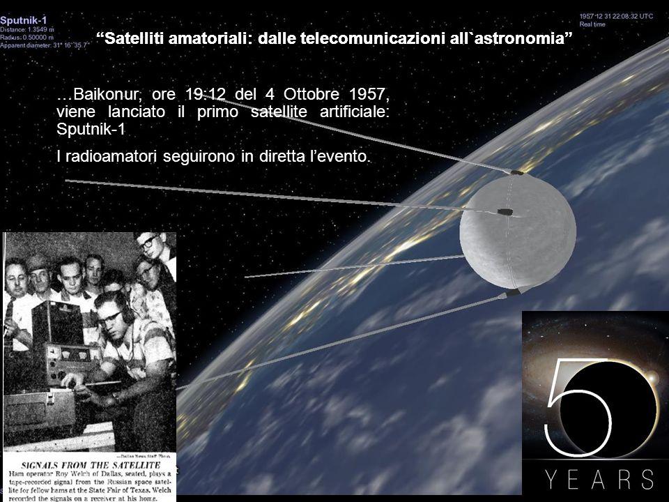Satelliti amatoriali: dalle telecomunicazioni all`astronomia AMSAT ItaliaUnione Astrofili Italiani …AMSAT Italia e U.A.I.