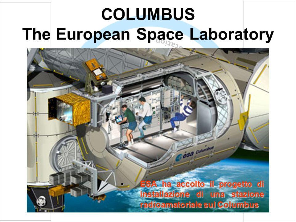 COLUMBUS The European Space Laboratory ESA ha accolto il progetto di installazione di una stazione radioamatoriale sul ColumbusESA ha accolto il proge
