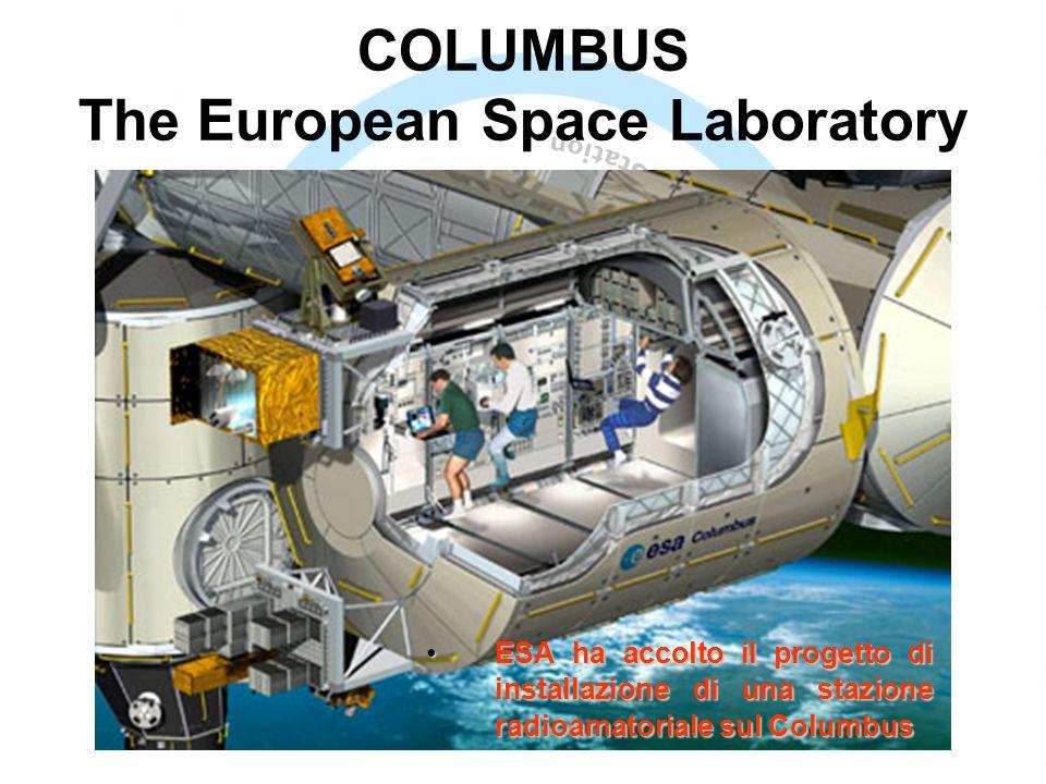 COLUMBUS The European Space Laboratory ESA ha accolto il progetto di installazione di una stazione radioamatoriale sul ColumbusESA ha accolto il progetto di installazione di una stazione radioamatoriale sul Columbus