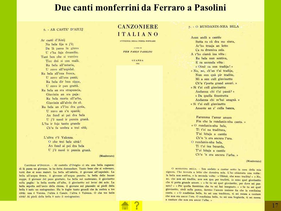 17 Due canti monferrini da Ferraro a Pasolini