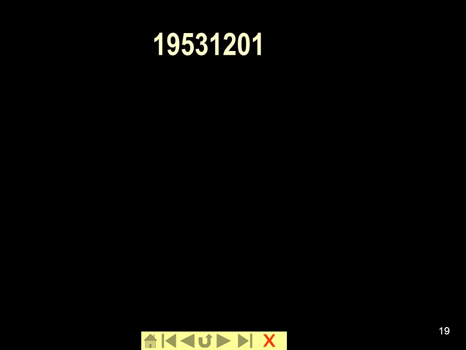x 19 19531201