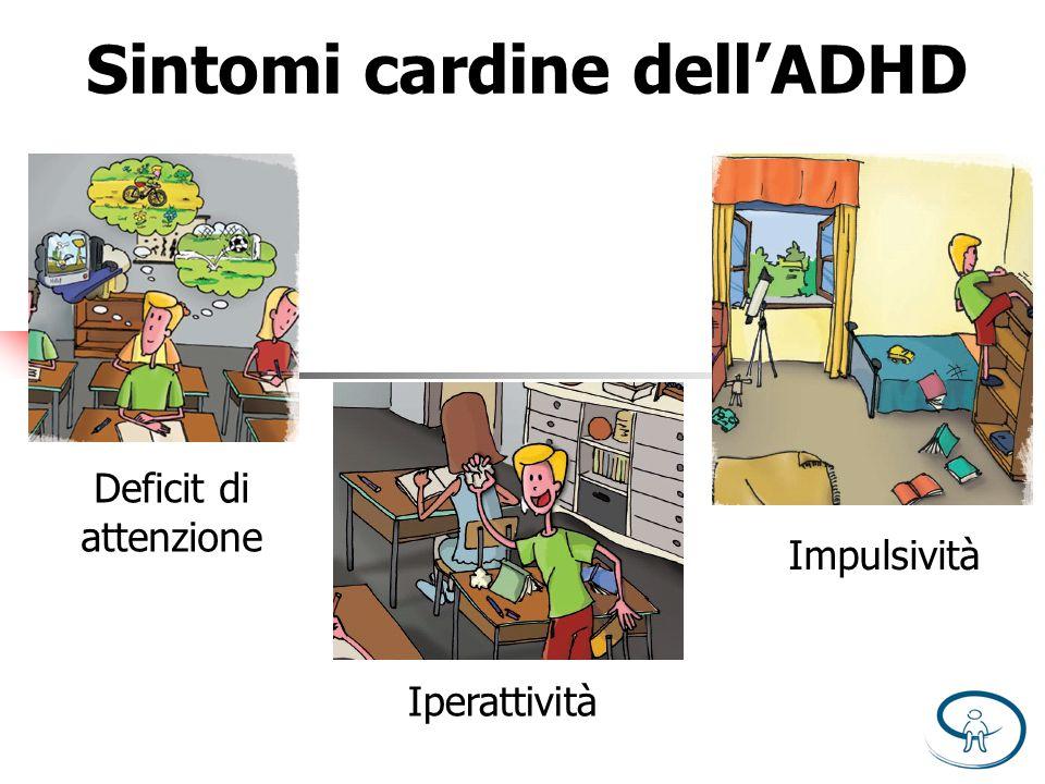 Sintomi cardine dellADHD Deficit di attenzione Iperattività Impulsività