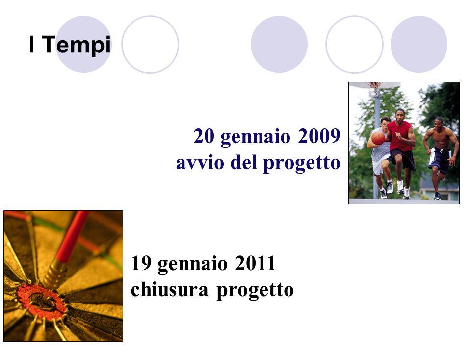 I Tempi 20 gennaio 2009 avvio del progetto 19 gennaio 2011 chiusura progetto