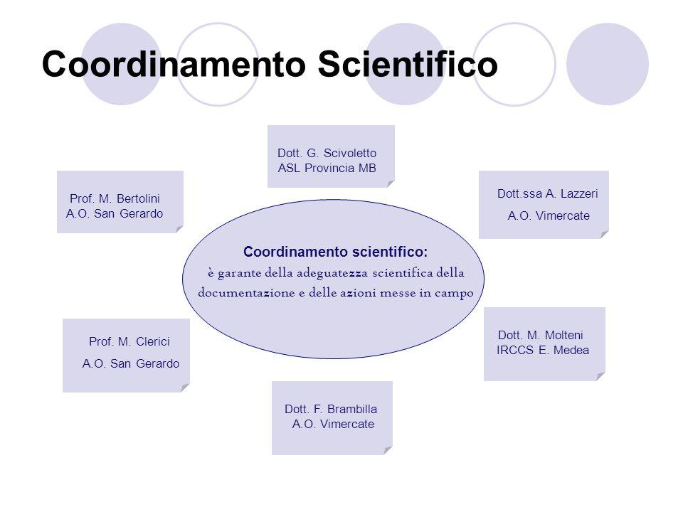 Coordinamento Scientifico Dott.ssa A. Lazzeri A.O. Vimercate Dott. M. Molteni IRCCS E. Medea Prof. M. Clerici A.O. San Gerardo Prof. M. Bertolini A.O.
