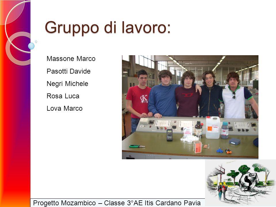 Progetto Mozambico – Classe 3°AE Itis Cardano Pavia Gruppo di lavoro: Massone Marco Pasotti Davide Negri Michele Rosa Luca Lova Marco