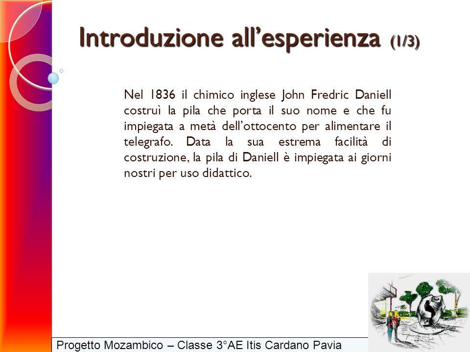 Nel 1836 il chimico inglese John Fredric Daniell costruì la pila che porta il suo nome e che fu impiegata a metà dellottocento per alimentare il teleg