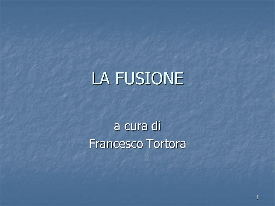 1 LA FUSIONE a cura di Francesco Tortora