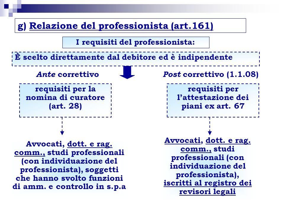 I requisiti del professionista: requisiti per la nomina di curatore (art. 28) Avvocati, dott. e rag. comm., studi professionali (con individuazione de