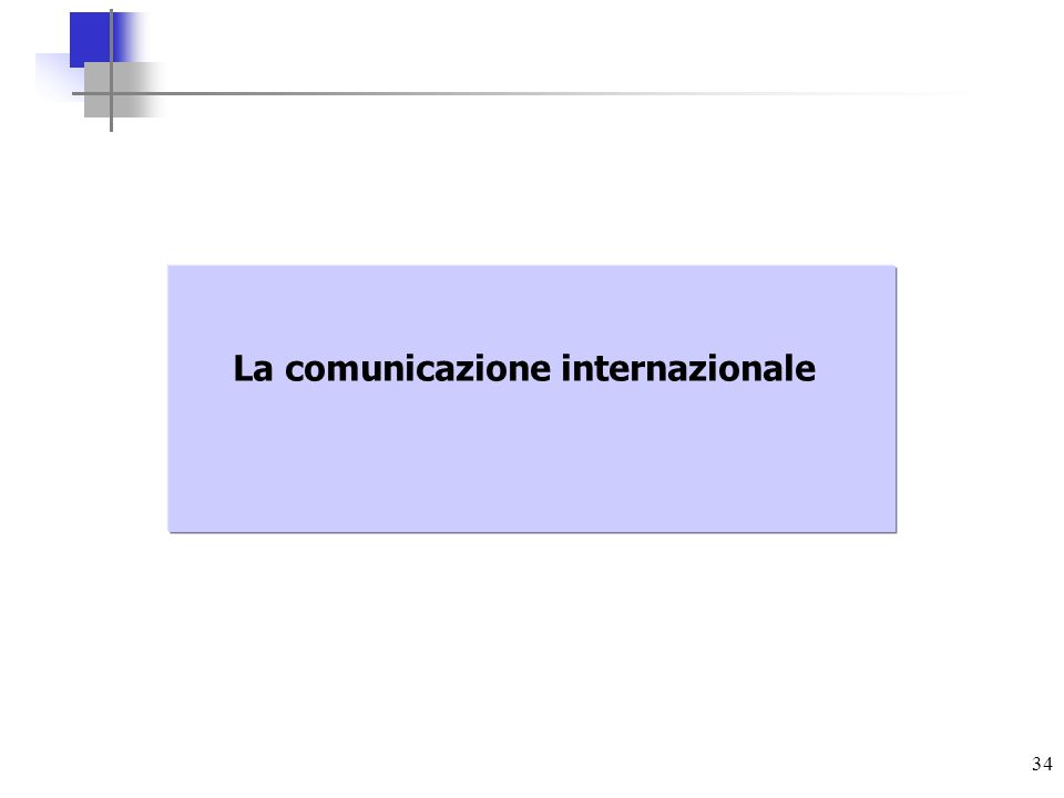 34 La comunicazione internazionale
