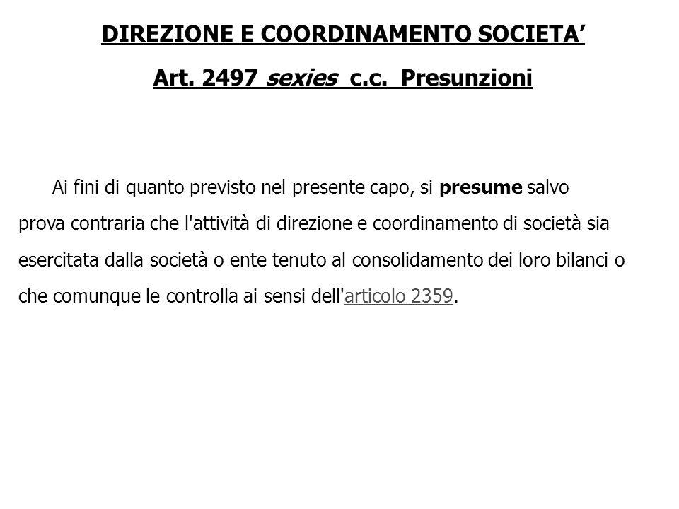Art. 2467 c.c. Finanziamenti dei soci Il rimborso dei finanziamenti dei soci a favore della società è postergato rispetto alla soddisfazione degli alt