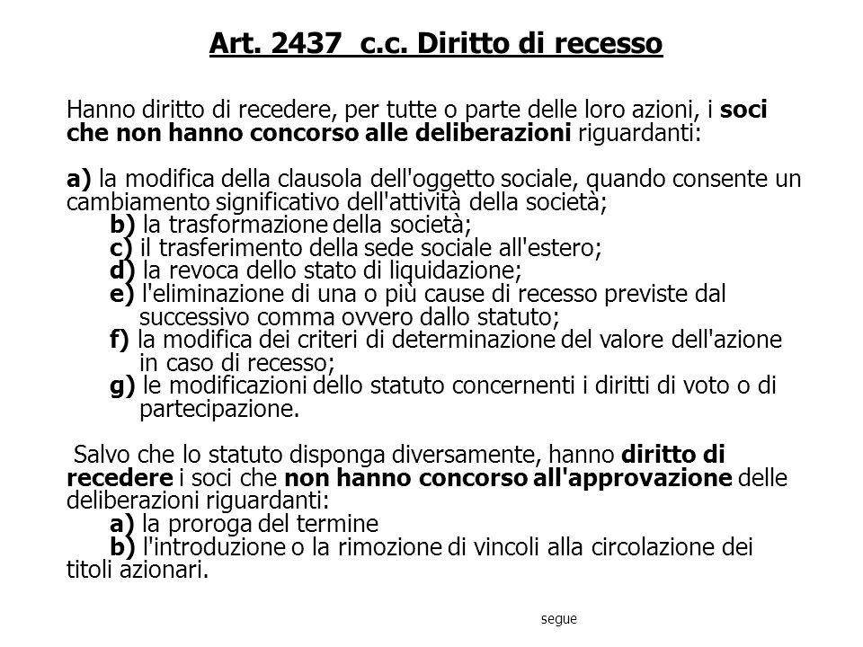 DIREZIONE E COORDINAMENTO SOCIETA Art. 2497 quinquies c.c. Finanziamenti nellattività di direzione e coordinamento Ai finanziamenti effettuati a favor
