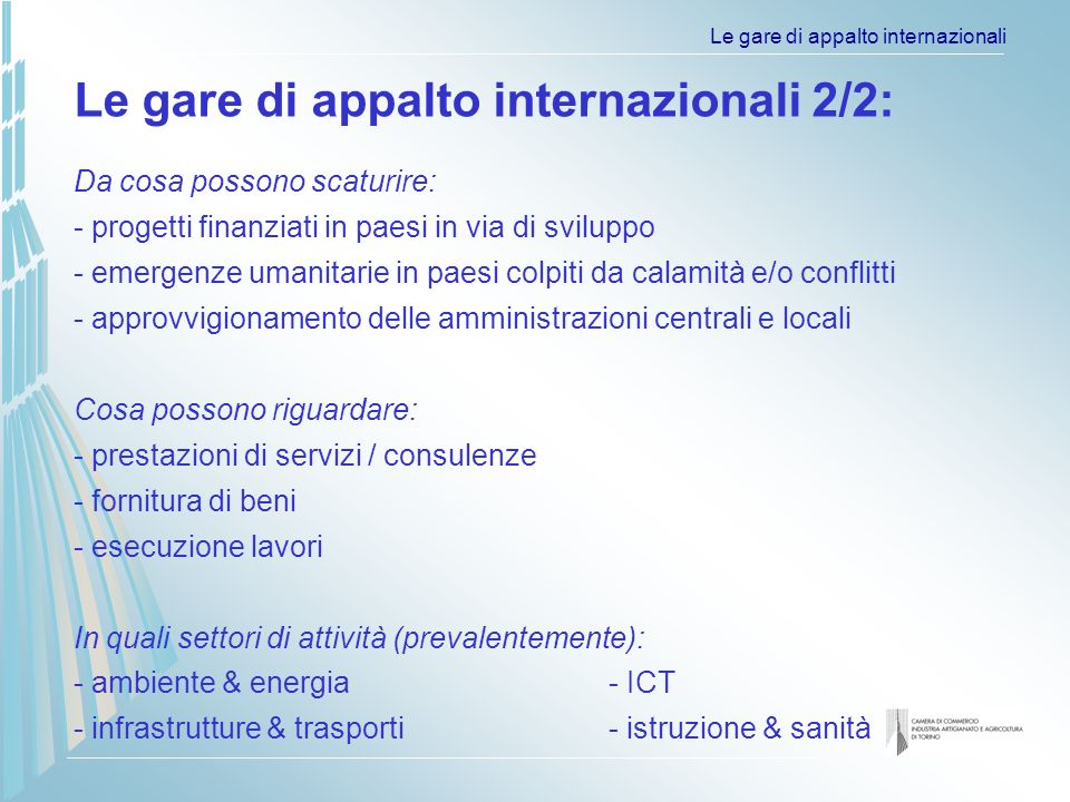 Le gare di appalto internazionali Country: Serbia and Montenegro Project: HEALTH PROJECT Financing: World Bank Abstract: CONSULTING SERVICES: PUBLIC INFORMATION CAMPAIGN Sector: Consultants Loan/Credit Number: Credit No.