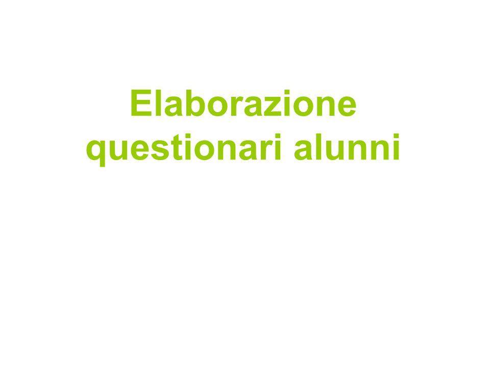 Elaborazione questionari alunni