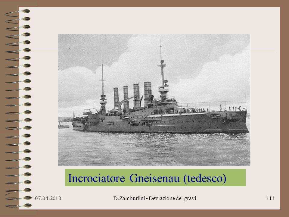 07.04.2010D.Zamburlini - Deviazione dei gravi112 Ammiragli Cradock e von Spee