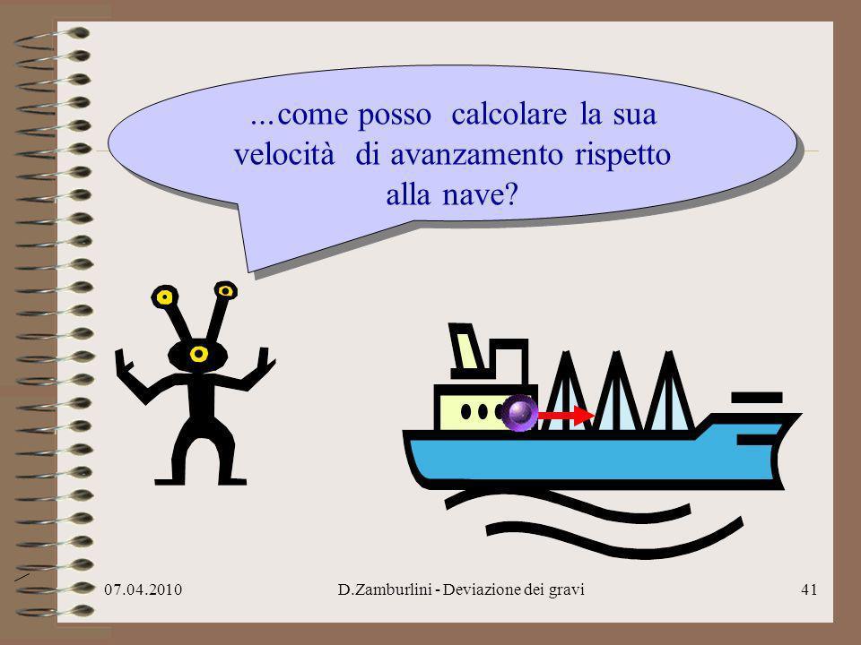 07.04.2010D.Zamburlini - Deviazione dei gravi42 Semplice, vi dico.