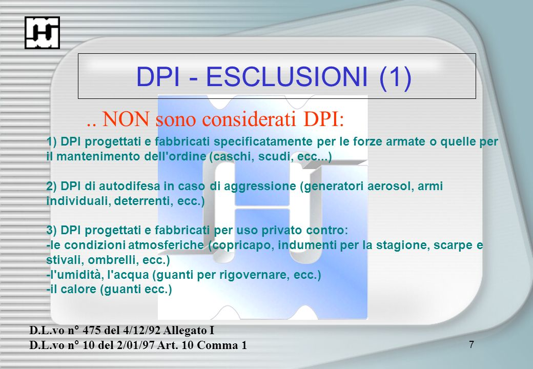 8 DPI - ESCLUSIONI (2)..