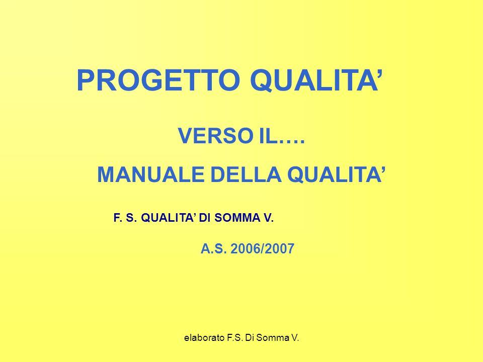 elaborato F.S. Di Somma V. PROGETTO QUALITA VERSO IL….