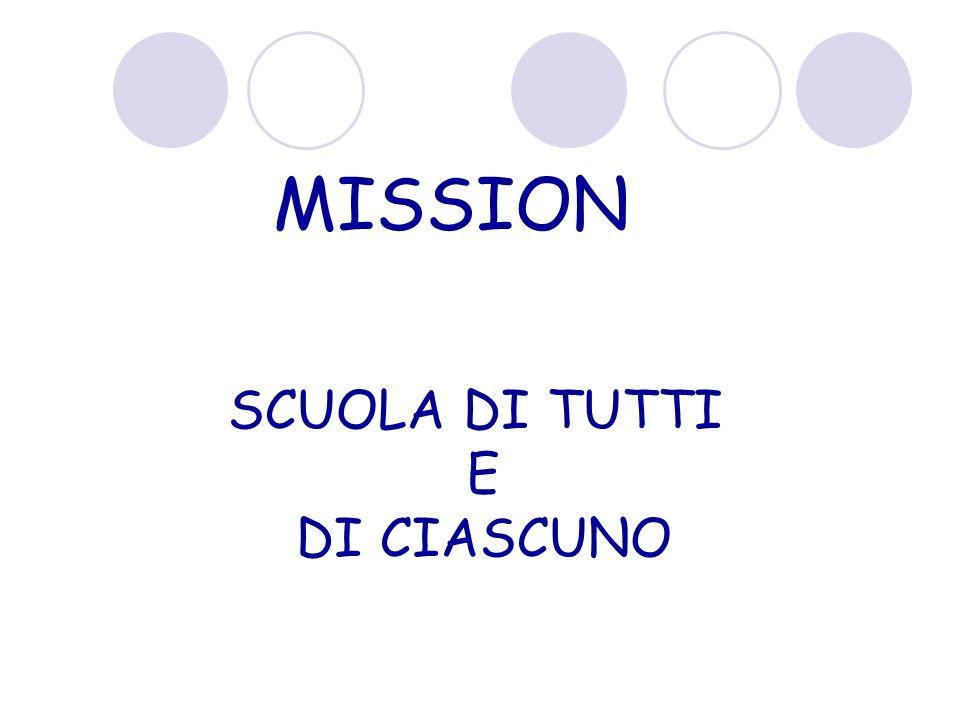 MISSION SCUOLA DI TUTTI E DI CIASCUNO