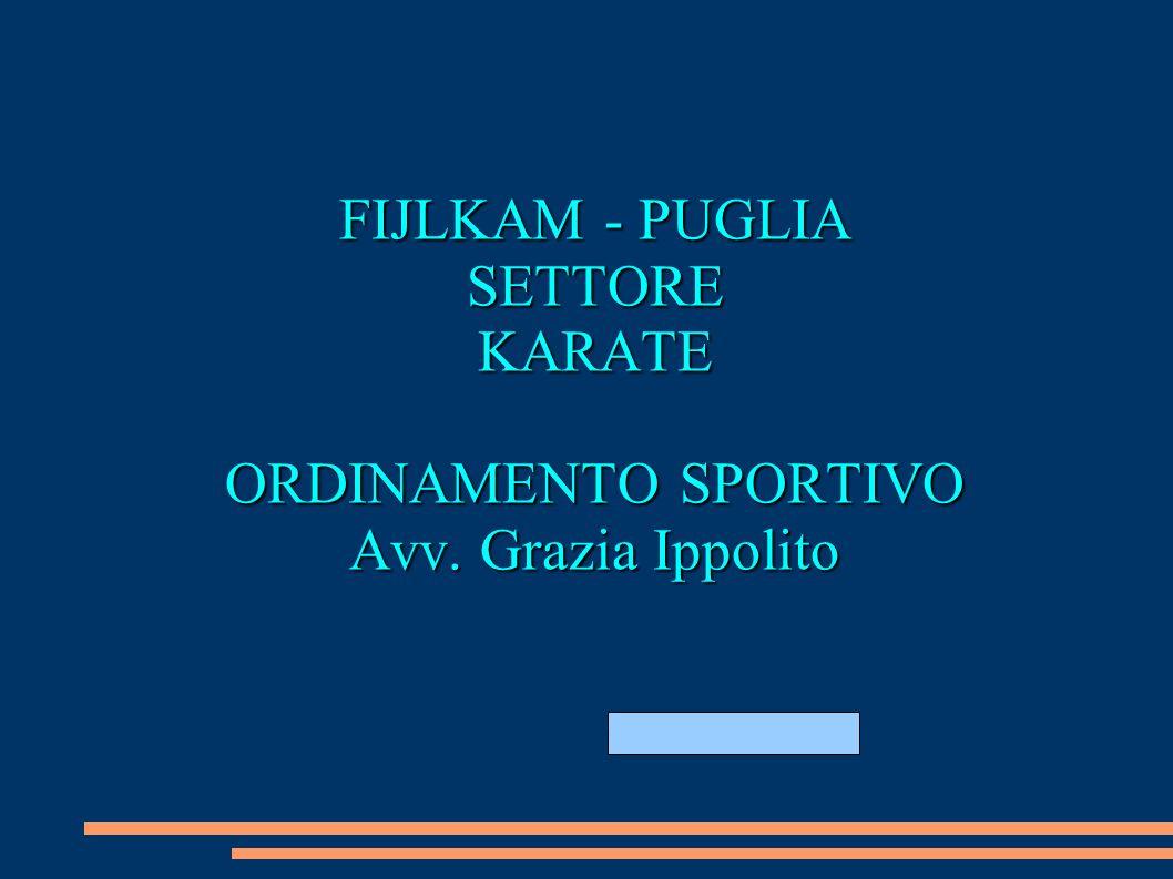 GIUGNO 2011 18-19 GIUGNO 2011 FIJLKAM - PUGLIA SETTOREKARATE ORDINAMENTO SPORTIVO Avv. Grazia Ippolito