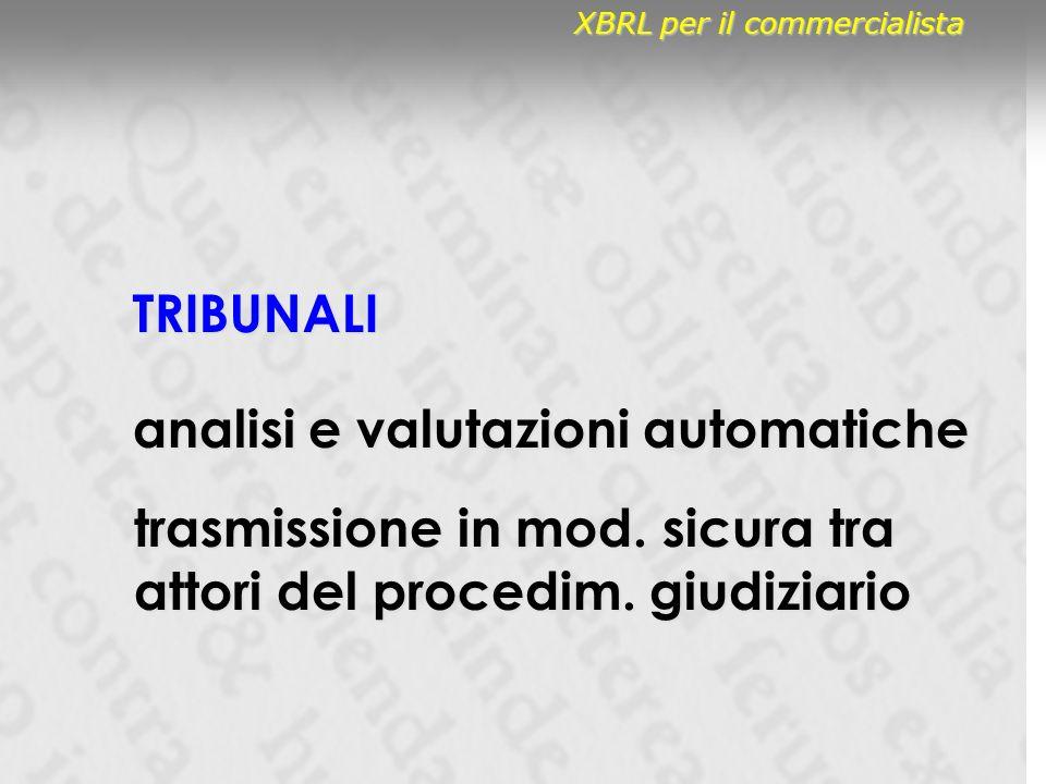 TRIBUNALI analisi e valutazioni automatiche trasmissione in mod.