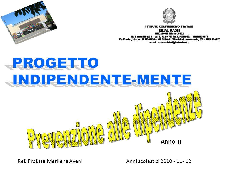 Anni scolastici 2010 - 11- 12 Anno II Ref. Prof.ssa Marilena Aveni