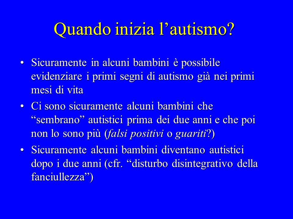 Quando inizia lautismo? Sicuramente in alcuni bambini è possibile evidenziare i primi segni di autismo già nei primi mesi di vitaSicuramente in alcuni