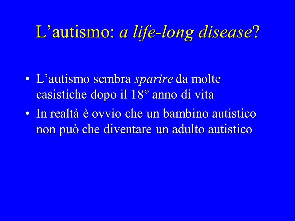 Lautismo: a life-long disease? Lautismo sembra sparire da molte casistiche dopo il 18° anno di vitaLautismo sembra sparire da molte casistiche dopo il