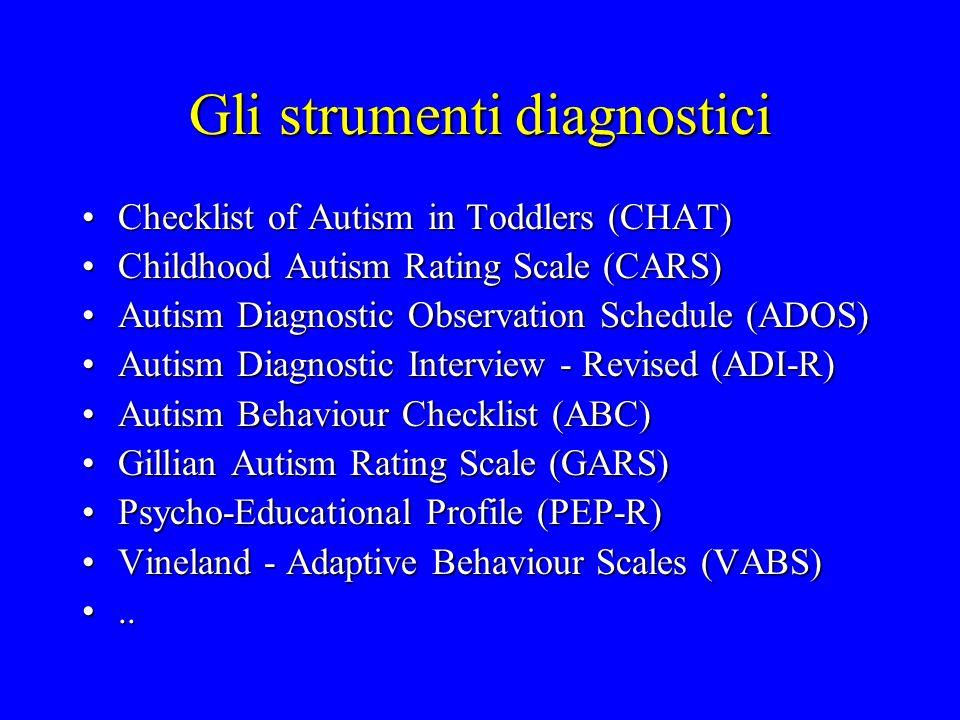 I disturbi generalizzati dello sviluppo Disturbo autisticoDisturbo autistico Disturbo di RettDisturbo di Rett Disturbo disintegrativo della fanciullezzaDisturbo disintegrativo della fanciullezza Disturbo di AspergerDisturbo di Asperger