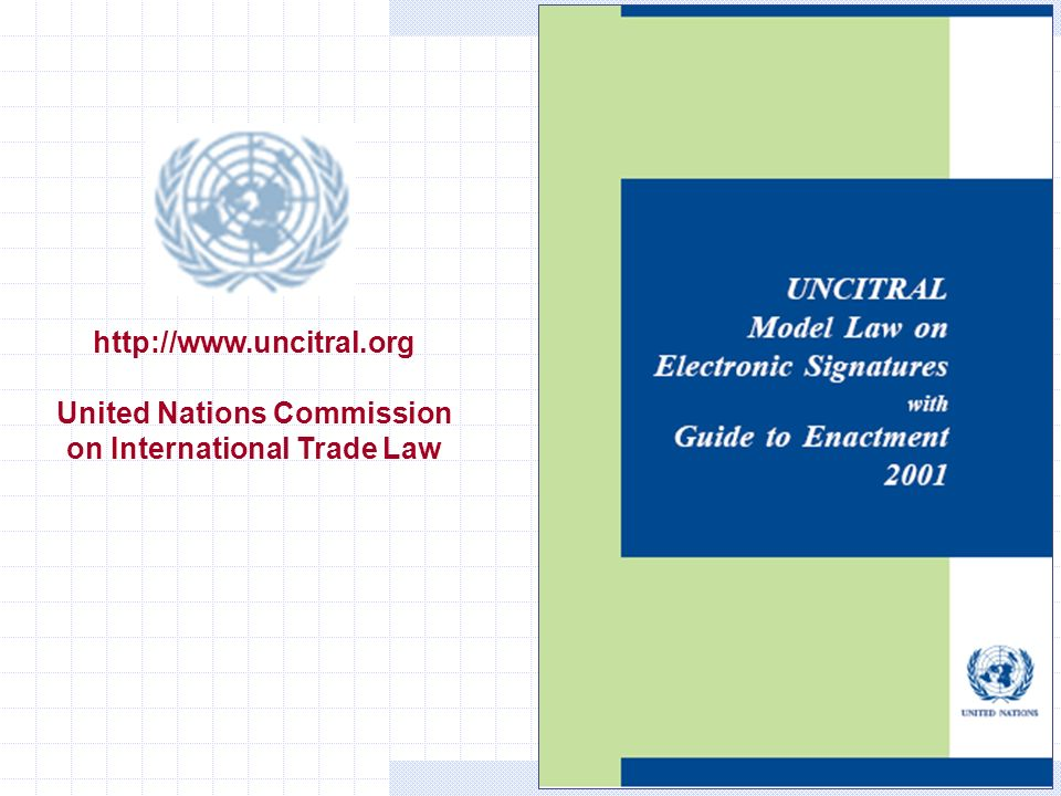 Gianni Penzo Doria http://www.uncitral.org United Nations Commission on International Trade Law