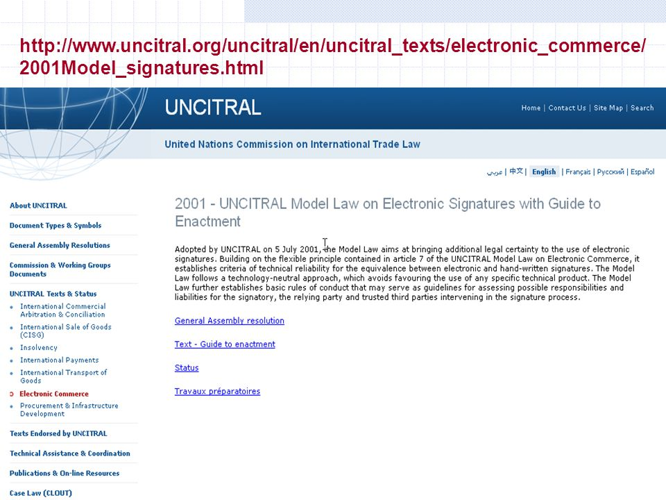 Gianni Penzo Doria http://www.uncitral.org/uncitral/en/uncitral_texts/electronic_commerce/ 2001Model_signatures.html