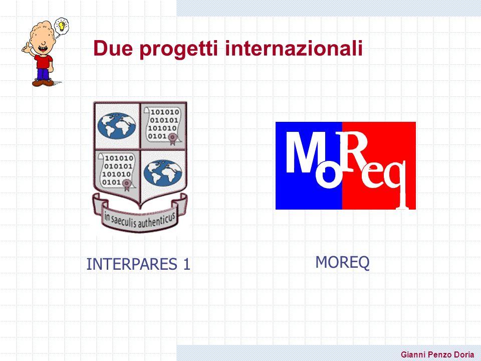 Gianni Penzo Doria Due progetti internazionali INTERPARES 1 MOREQ