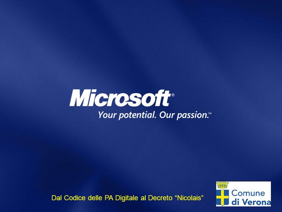 Dal Codice delle PA Digitale al Decreto Nicolais
