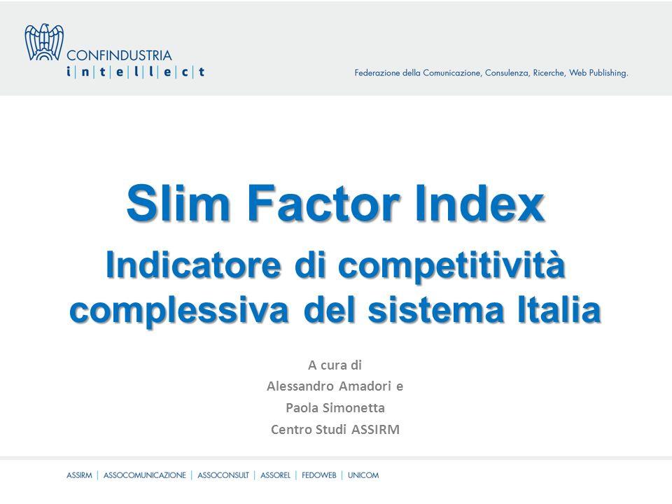 Slim Factor Index Indicatore di competitività complessiva del sistema Italia A cura di Alessandro Amadori e Paola Simonetta Centro Studi ASSIRM