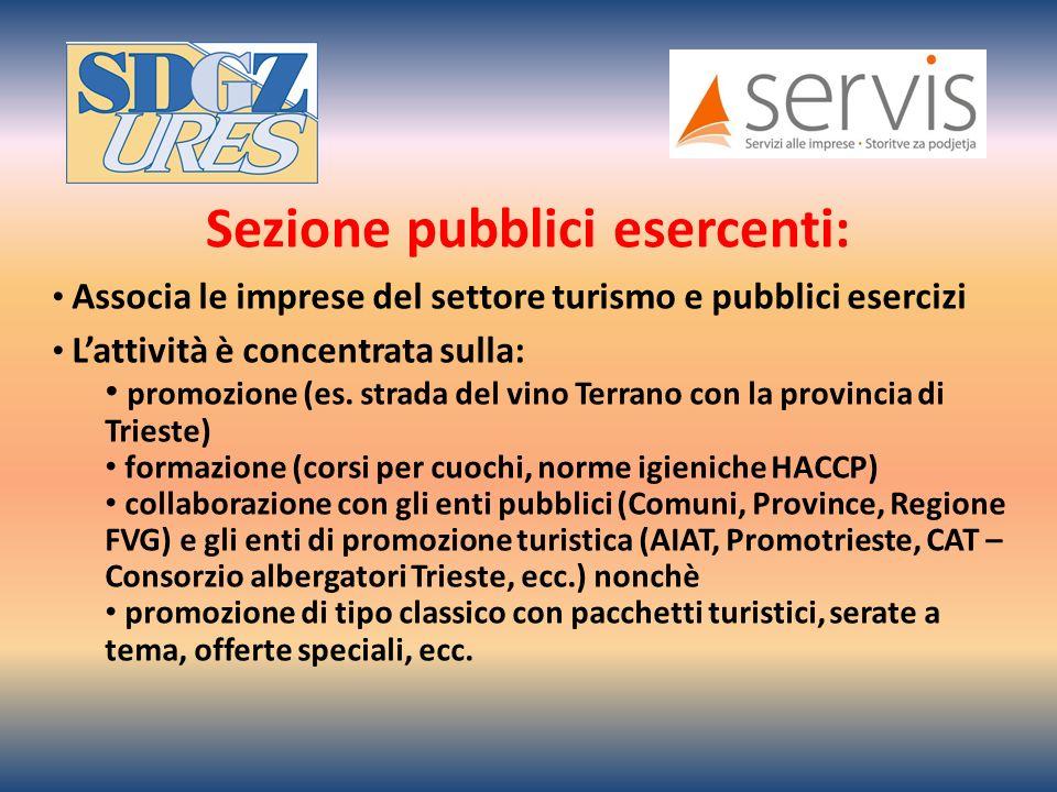 Associa le imprese del settore turismo e pubblici esercizi Lattività è concentrata sulla: promozione (es.