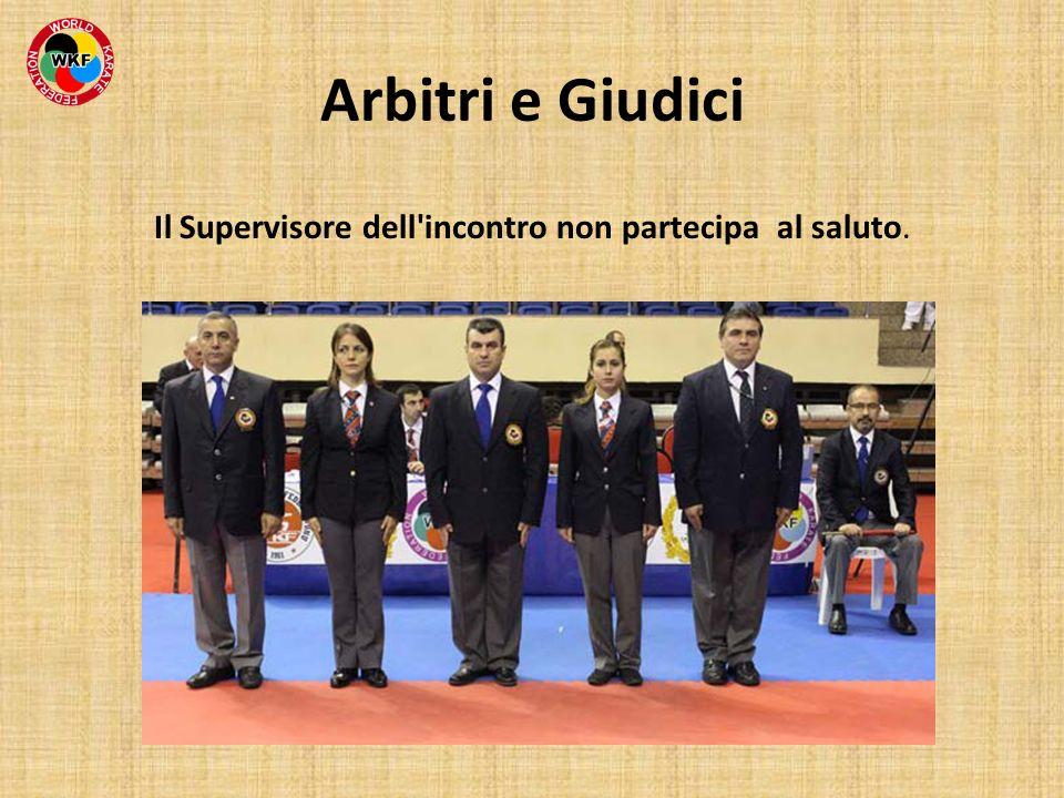 Arbitri e Giudici Il Supervisore dell'incontro non partecipa al saluto.
