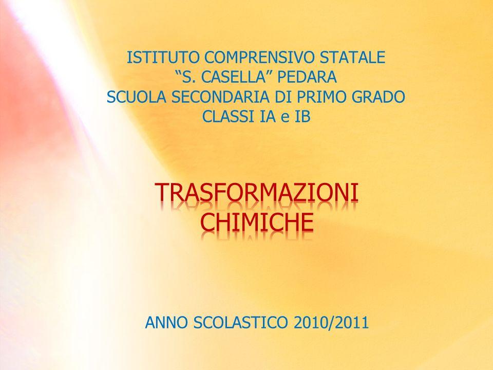 ISTITUTO COMPRENSIVO STATALE S. CASELLA PEDARA SCUOLA SECONDARIA DI PRIMO GRADO CLASSI IA e IB ANNO SCOLASTICO 2010/2011