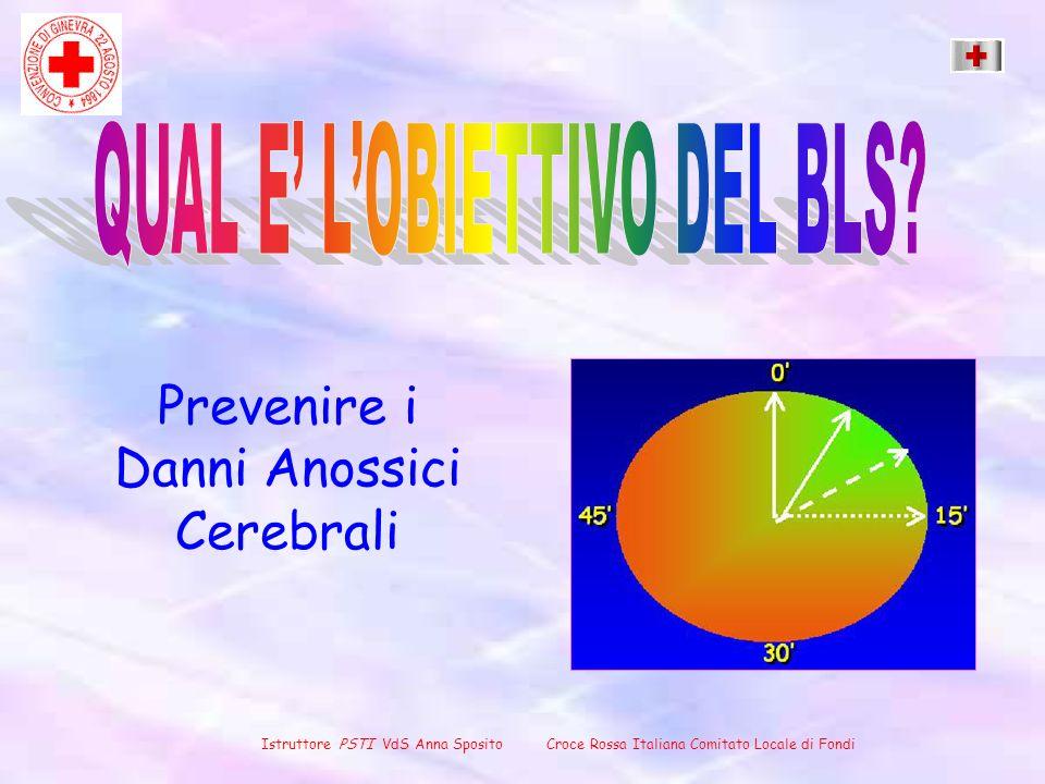 Prevenire i Danni Anossici Cerebrali Istruttore PSTI VdS Anna Sposito Croce Rossa Italiana Comitato Locale di Fondi