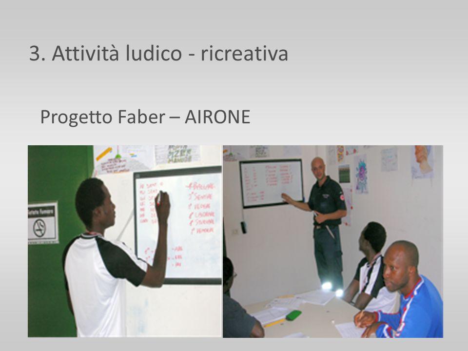 3. Attività ludico - ricreativa Progetto Faber – AIRONE