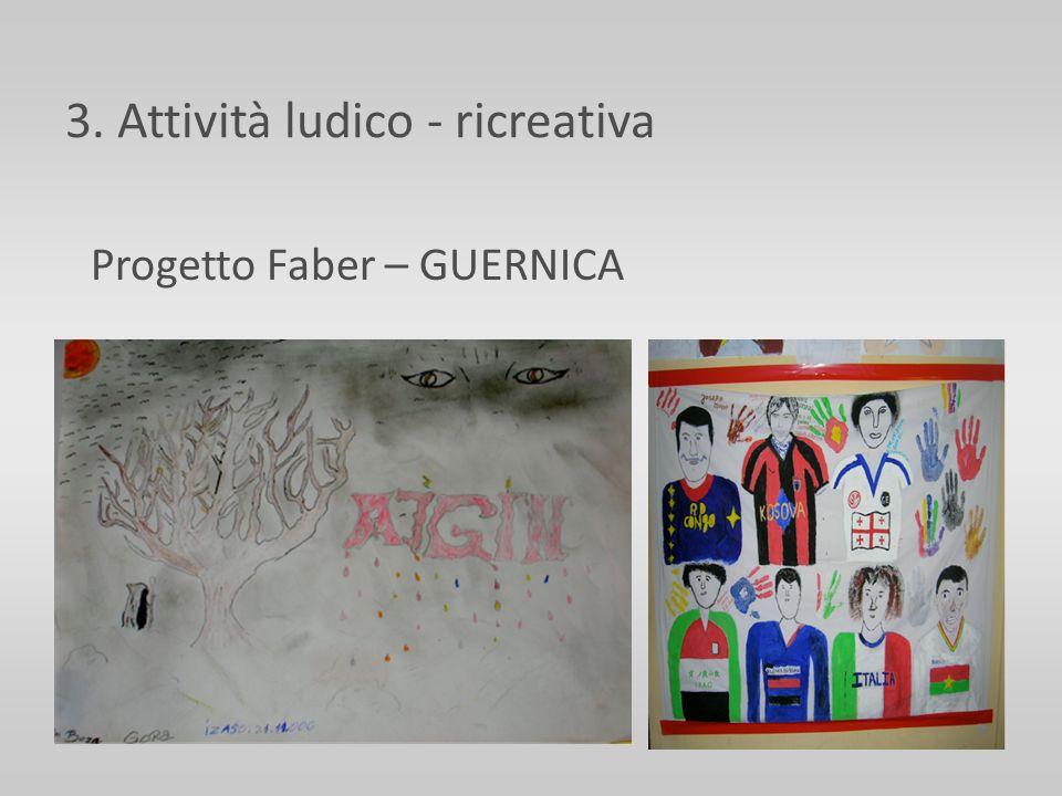 3. Attività ludico - ricreativa Progetto Faber – GUERNICA
