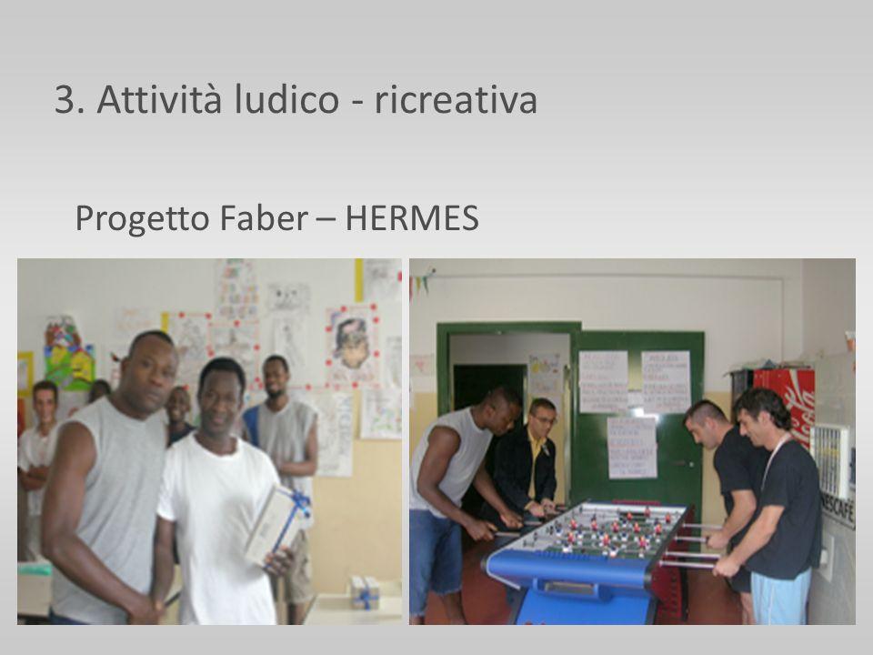 3. Attività ludico - ricreativa Progetto Faber – HERMES