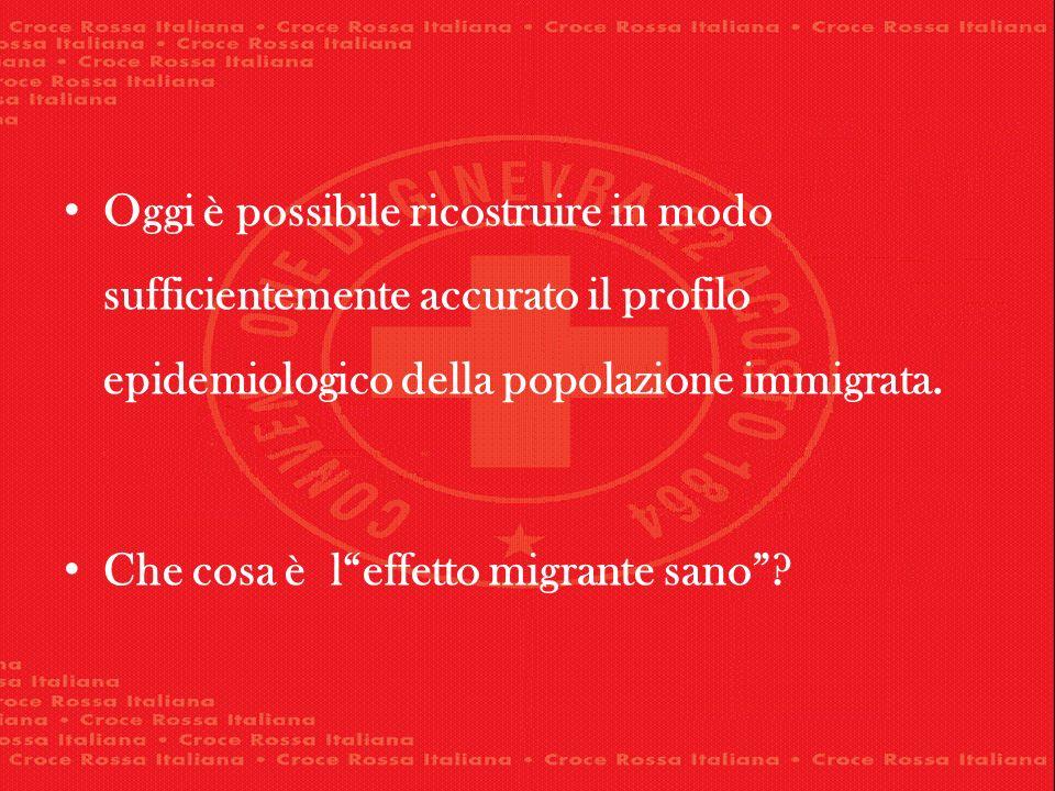 Oggi è possibile ricostruire in modo sufficientemente accurato il profilo epidemiologico della popolazione immigrata. Che cosa è leffetto migrante san