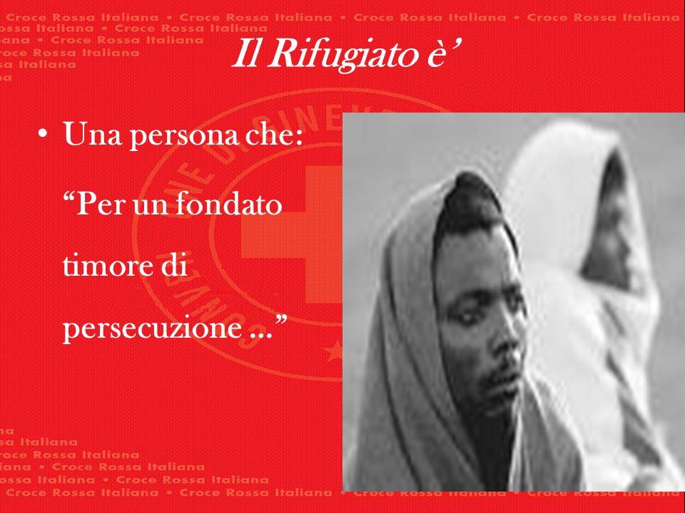 Il Rifugiato è Una persona che: Per un fondato timore di persecuzione …
